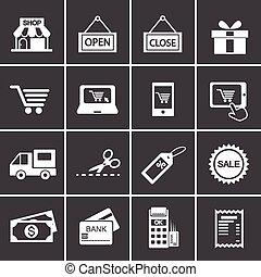 274-2, shopping, ícone,