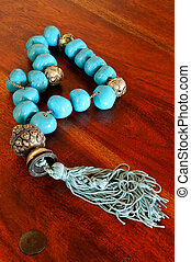 Old chaplet with turquoise beads - Picture of an old chaplet...