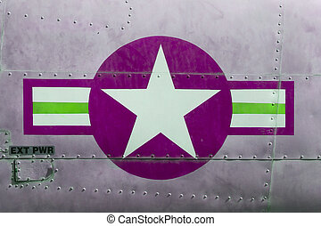 Tail of Vietnam war Airplane, purple - Tail of Vietnam war...
