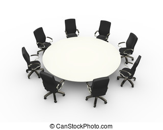 3d empty chairs table conference meeting room - 3d...