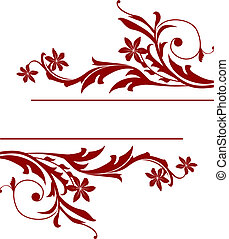 Floral decorations - Floral vector decorations isolated on...