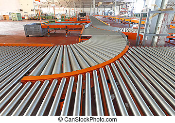 Line shaft rollers - Conveyer roller sorting system in...