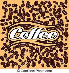 vector background with coffee - bright vector background...