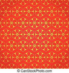National chinese seamless pattern with flowers. Chinese new...