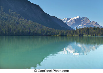 Emerald lake landscape. British Columbia. Canada. Horizontal