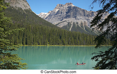 Emerald lake landscape British Columbia Canada Horizontal