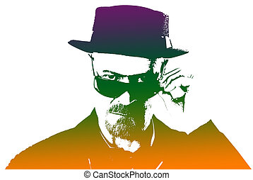 Heisenberg - Breaking Bad Artwork Portrait of Walter White...