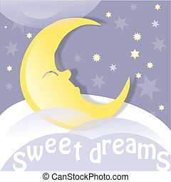 sweet dreams - Moon, clouds and stars. Sweet dreams...