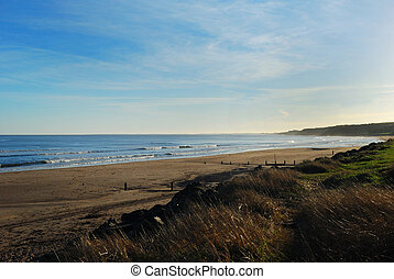 Spittal beach in mid winter - Spittal beach sea,waves,sand,...