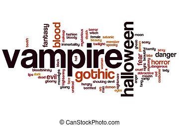 Vampire word cloud