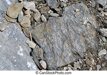 Sedimentary rock shale - Ablagerungsgestein Schiefer