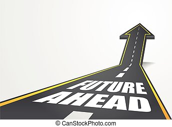 future ahead - detailed illustration of a highway road going...