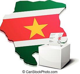ballotbox Suriname - detailed illustration of a ballotbox in...