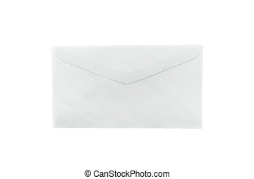 Blank envelope on white background