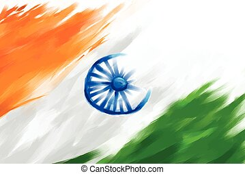 Grungy Indian Flag - illustration of grungy Indian Flag for...