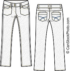lady skinny denim jeans with crinkle effect