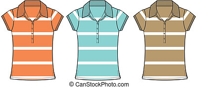 lady fashion polo shirts