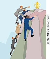 Competition in the business - Vector illustration of a...