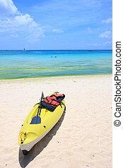 kayak on the beach - The kayak on the beach of Boracay...