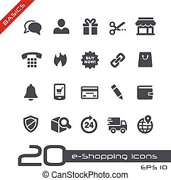 e-Shopping Icons Basics - Vector icons for web, mobile or...