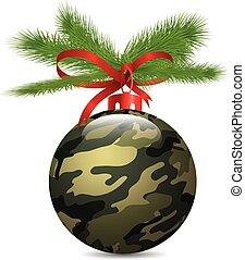 Christmas Camouflage ball