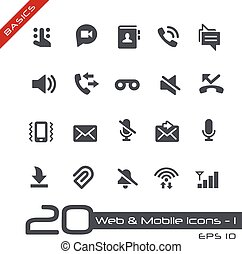 Web and Mobile Icons-1 Basics - Vector icons for web, mobile...