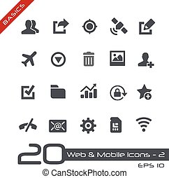 Web and Mobile Icons-2 Basics - Vector icons for web, mobile...