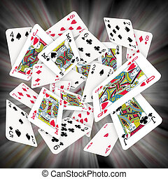 Playing Cards - Lots of Scattered Playing Cards