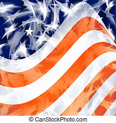 American Flag - An American Flag Background Design