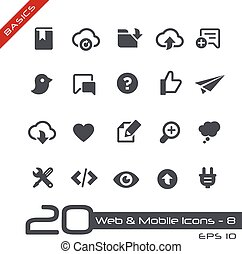 Web and Mobile Icons-8 Basics - Vector icons for web, mobile...