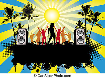 Beach Party Flyer Ibiza - Party flyer or poster for your...