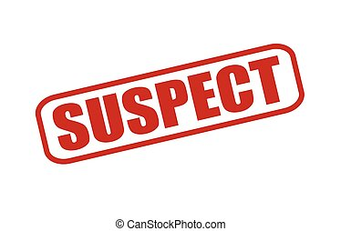 Suspect - Rubber stamp with word suspect inside, vector...