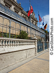 Historic Buildings of Punta Arenas - Historic colonial style...