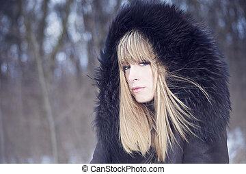 retrato, Moda, invierno
