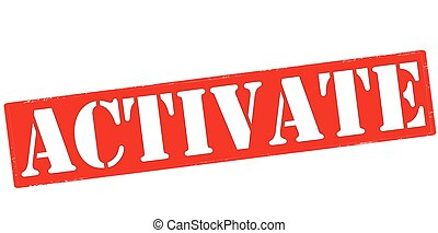 Activate - Rubber stamp with word activate inside, vector...