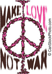 Peace War Cloud Love Poster Logo
