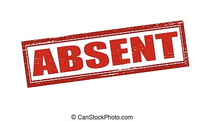 Absent - Rubber stamp with word absent inside, vector...