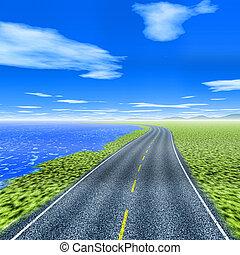 Lakeside road