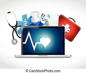 computer medical concept