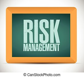 risk management board sign illustration design over a white...