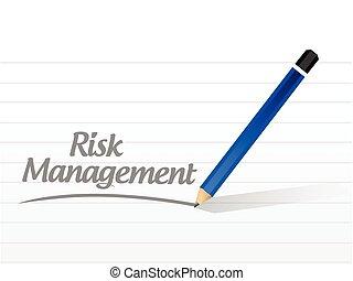 risk management message illustration design over a white...