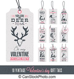 Vintage Valentine's Day Gift Tags