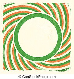 Swirly stripes design with label in Irish national colors