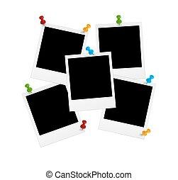 Polaroids with pin