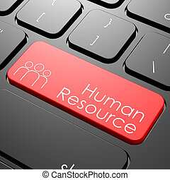 Human resource keyboard image with hi-res rendered artwork...