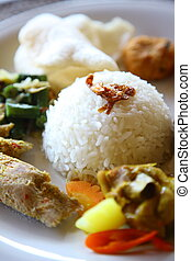 Nasi Goreng - close up shot of ethnic food Nasi Goreng