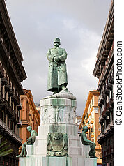 Statue ov Umberto I in Naples - Angle view of a statue,...