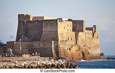 Castel dellOvo in Naples - Castel dellOvo, medieval fortress...
