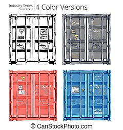 Set of Cargo containers - Vector illustration of Cargo...