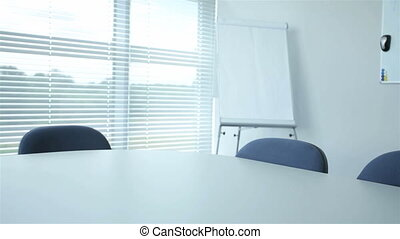 Modern corporation office prepared for a meeting